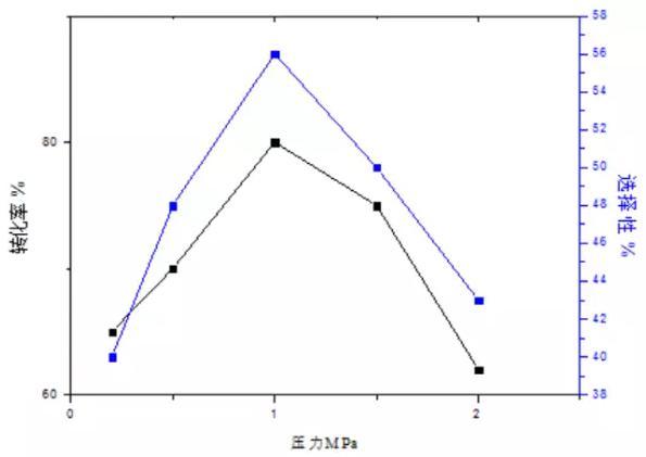 图4压力对反应过程的影响