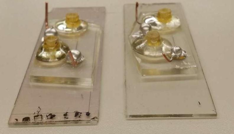 芯片实验室设备利用电信号测量葡萄糖,分辨血型并检测病毒或癌症。但是生物样品需要保护免受电场的影响。一层薄薄的氧化铪可以解决问题。图片来源:Sanaz Habibi